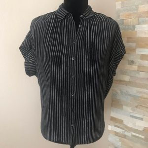 Madewell black white stripe